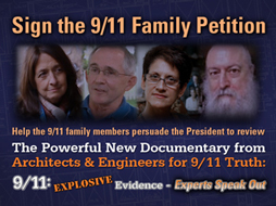 Banner link to Sign the 9/11 Family Petition