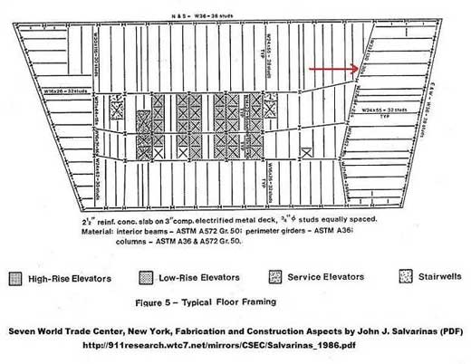 wtc7-typical-floor-framing