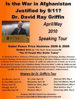 David Ray Griffin 2010 Tour
