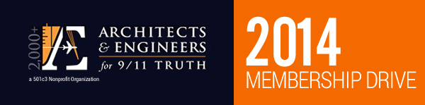 Image: AE911Truth 2014 Membership Drive Header