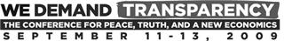 We Demand Transparency Conference Sept. 11-13 NY