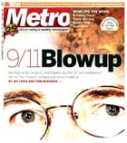 MetroActive Cover with showing eyes of Richard Gage, AIA