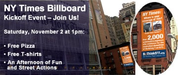 NY Times Billboard Kickoff Event?
