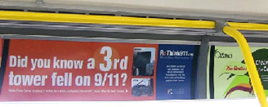 ReThink911 ads in Ottawa buses like this one received unprecedented attention from media sources across Canada